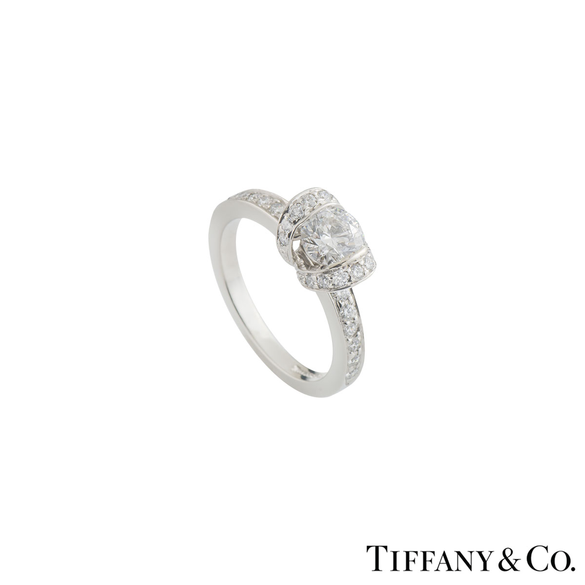 Tiffany & Co. Platinum Diamond Ribbon Ring 0.51ct D/VVS2